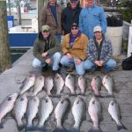 Catching rockfish charter fishing