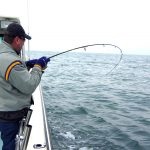 casting in the Chesapeake Bay