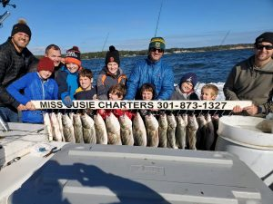 Chesapeake bay best fishing charter captains miss susie